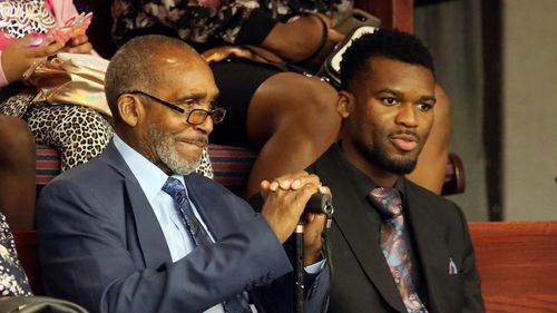 Williams and his grandson, Micah Magwood.