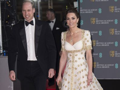Kate and William walk the red carpet at the BAFTAs