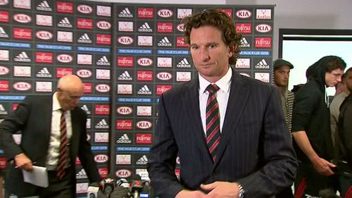 AFL fans mark James Hird's resignation as Essendon coach with #PutYourPeptidesOut meme