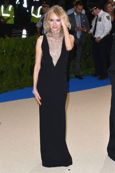 Naomi Watts in Stella McCartney at the 2017 Met Gala,&nbsp;<em>Rei Kawakubo/Comme des Garcons: Art Of The In-Between</em>
