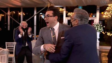 Dan Levy and Eugene Levy sweep the Emmys.