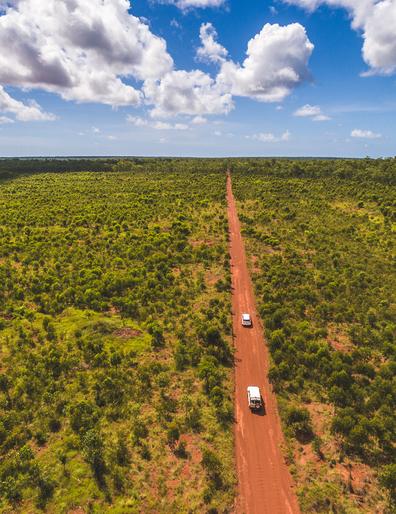 Red dirt roads in East Arnhem Land