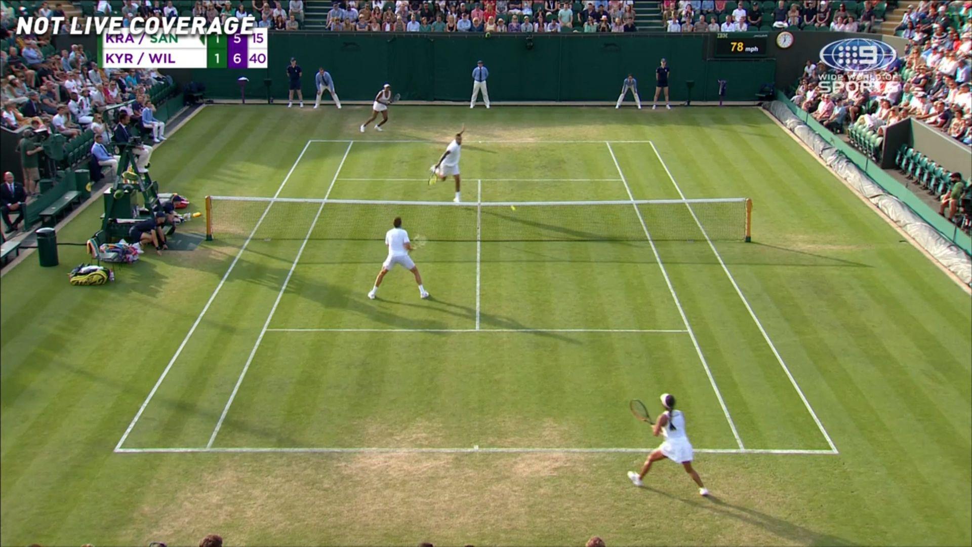 Mixed doubles pair Nick Kyrgios, Venus Williams advance as Aussie reveals star's secret to success