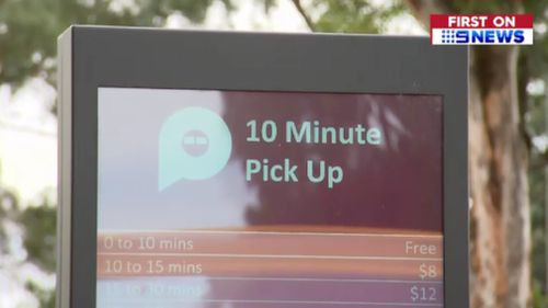 The first 10 minutes of parking at the pick up zone will be free. (9NEWS)