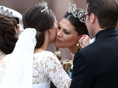 Sweden's Princess Sofia and Crown Princess Victoria