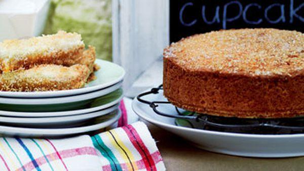 Coconut lemon drizzle cake