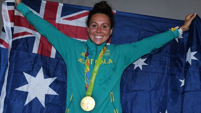 Chloe Esposito, 24, became Australia's first ever modern pentathlon medallist with victory in Rio. (AAP)