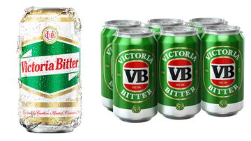 """The new """"heritage"""" cans (left) and the current iteration. (Supplied)"""