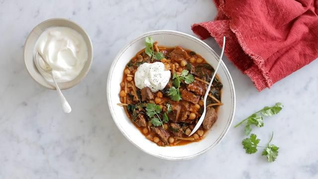 Beef harira soup
