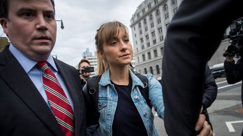 Allison Mack has been indicted by a grand jury for their roles in an alleged secret society sex cult. (AAP)