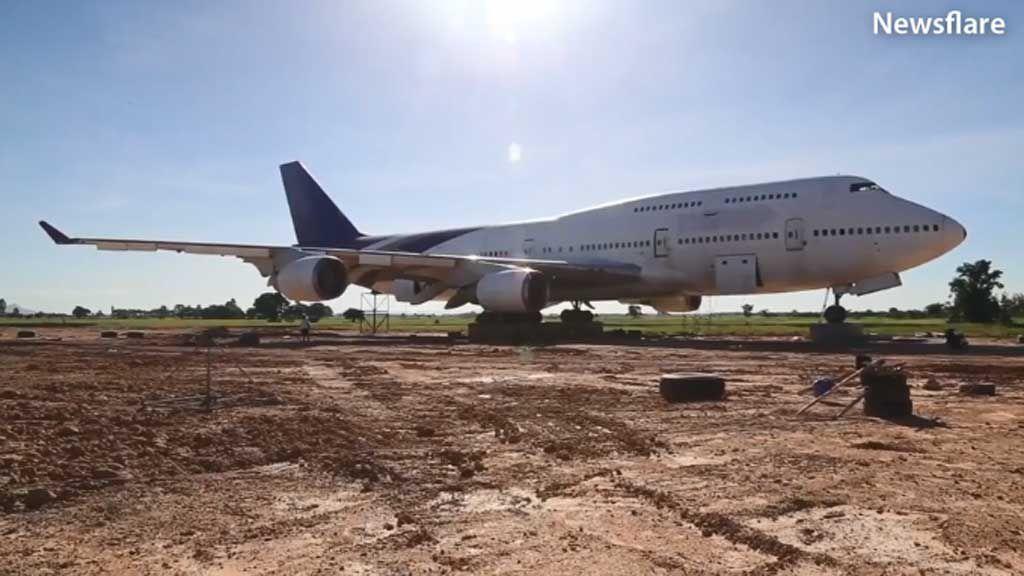 Thai passenger jet plane discovered in Thai field
