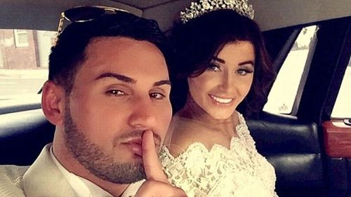 Mehajer with his estranged wife Aysha Learmonth on their wedding day.
