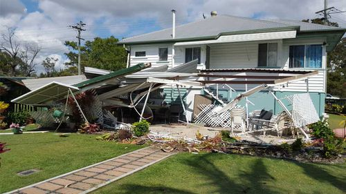 The truck motored right across the front yard and into the house. (Image: Darren Sheldon)