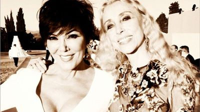 Kris Jenner with Franca Sozzani at Fortezza Belvedere in Florence (Instagram).