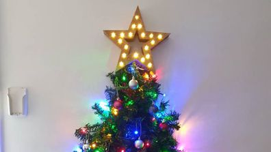 Mum's genius space saving Christmas tree hack
