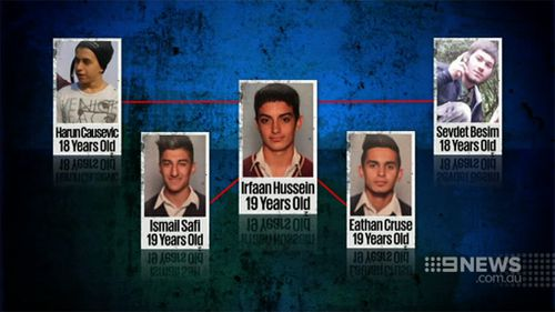 Hussein went to school with teenagers accused of plotting an Anzac Day attack. (9NEWS)
