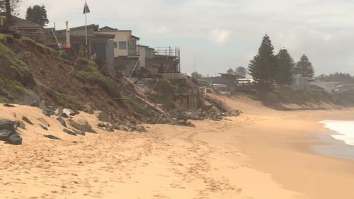 Wild weather has caused coastal erosion along the strip.