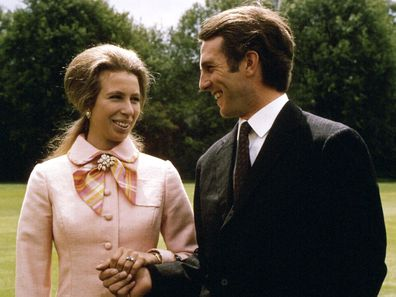 Princess Anne and Captain Mark Phillips' engagement photo.