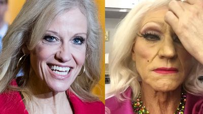 Patrick Stewart admits he & Kellyanne Conway are 'twinsies' after drag photo goes viral