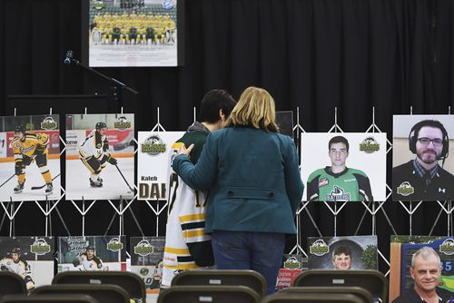 The 14 others on the bus were injured, some critically, in Friday night's collision, which has Canada, its national sport and the hockey-obsessed town of Humboldt reeling.
