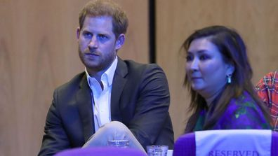 Prince Harry, Duke of Sussex attends a sustainable tourism summit at the Edinburgh International Conference Centre on February 26, 2020 in Edinburgh, Scotland