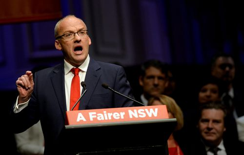 Luke Foley during the NSW State Labor Conference in Sydney in July last year. Picture: AAP