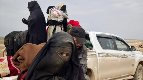 The so-called caliphate's former subjects arrive dusty, exhausted, scared and disoriented.Picture: Adam Dobby/CNN