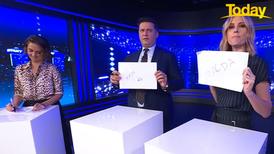 The hosts had each others' backs.