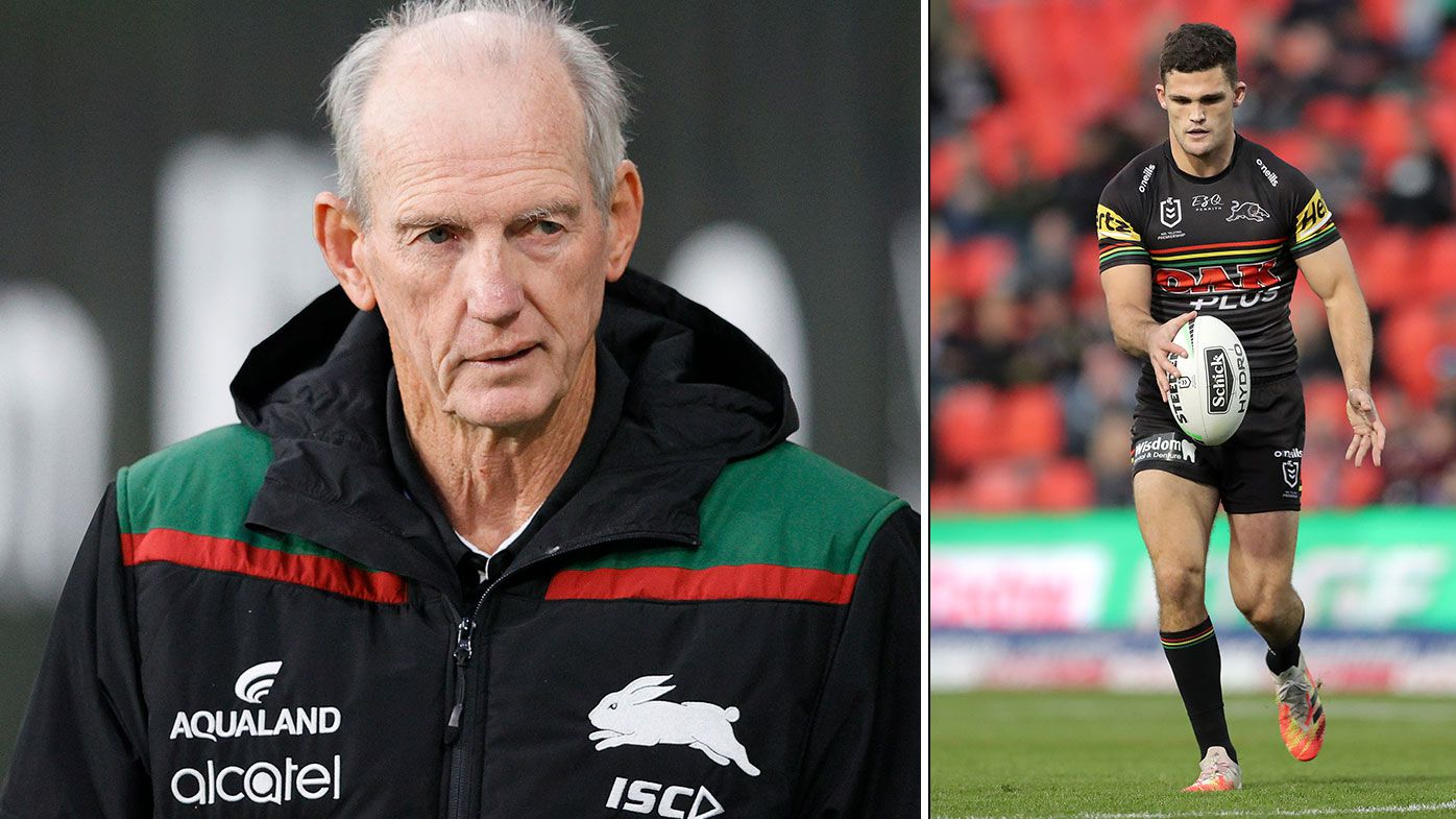 Souths coach Wayne Bennett goes nuclear on Penrith's 'illegal' Nathan Cleary ploy