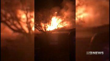 lucky escape: fire tears through a wagga home