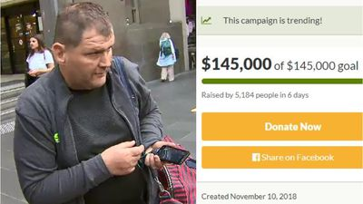 'Trolley Man' fundraiser hits goal as he sits behind bars