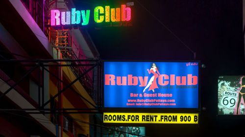 The Ruby Club is located in the party strip of Pattaya.
