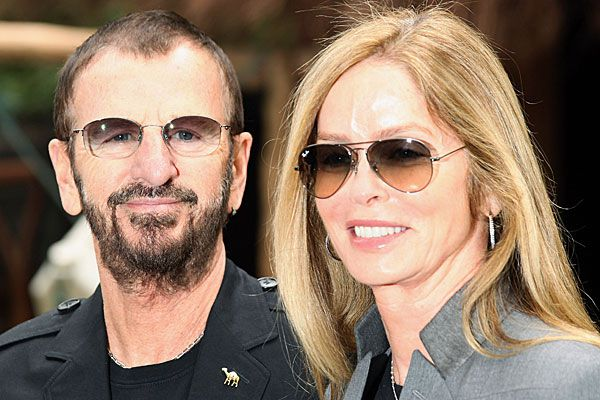 Beatles drummer Ringo Starr with wife Barbara Bach.