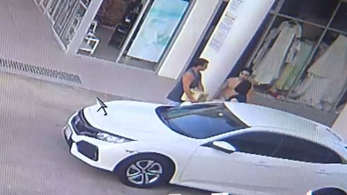 The woman was parked on Laver Street in Robina when police allege she was assaulted during an attempted robbery.