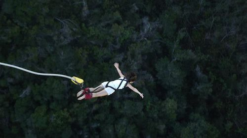 Ms Decadt bungee jumping in South Africa. (Facebook)
