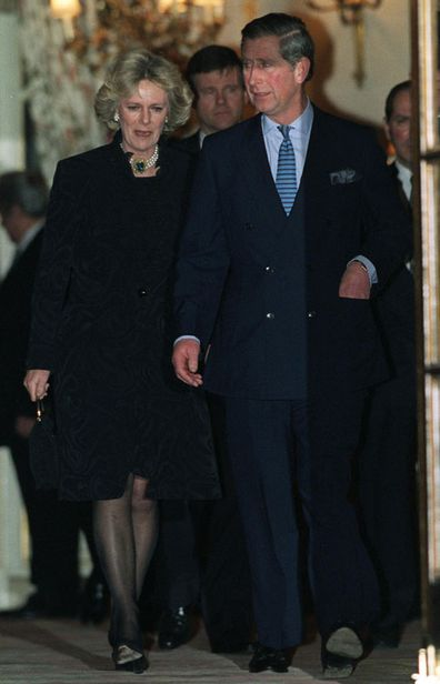 JANUARY 28, 1999: Prince Charles And Camilla Parker-bowles Leaving The Ritz Hotel In London After Attending A 50th Birthday Party For Camilla's Sister