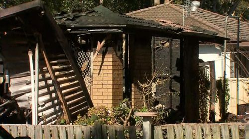 The body of a 76-year-old woman was found inside the house. Image: 9News