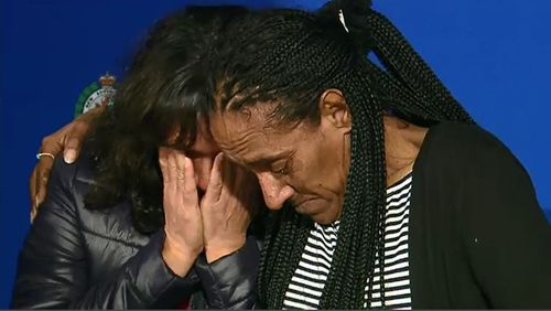 Ms Ardler's sisters pleaded with the NSW Indigenous community to help locate the suspected killer. Picture: 9NEWS.