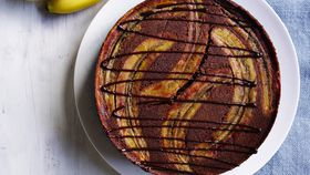 Upside Down Banana Chocolate Cake recipe