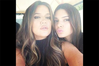 It seems full-lipped pouts run in the family for half-sisters Khloe Kardashian and Kendall Jenner, who posted this sibling selfie to the young Jenner's Instagram account. <br/><br/><i>Image: Instagram @kendalljenner</i>