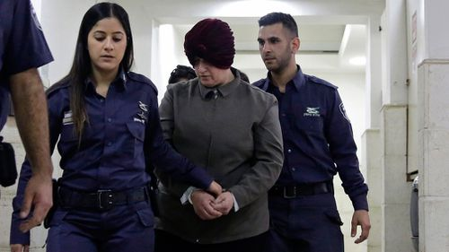Malka Leifer is brought into a Jerusalem court room. (AAP)