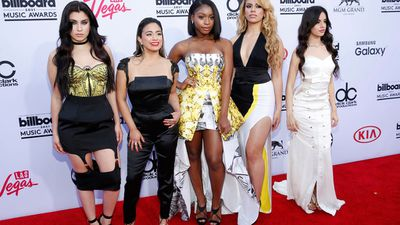Lauren Jauregui, from left, Ally Brooke, Normani Hamilton, Dinah-Jane Hansen, and Camila Cabello of the musical group Fifth Harmony. (AAP)
