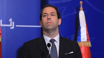 Tunisian Prime Minister Youssef Chahed. (AFP)
