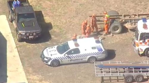 Emergency services at the scene in Broadford. (9NEWS)