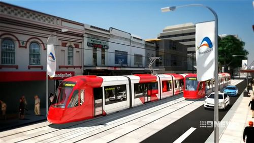 A light rail project is underway that will connect Westmead to Carlingford via Parramatta. Picture: 9NEWS