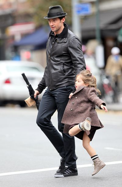 <p>Daddy daycare: We couldn't leave this stylish Dad out of the mix. Little Ava Eliot looks pretty excited to see Daddy, actor Hugh Jackman, pick her up from school - and we are too. Check out his dandy getup ...</p>