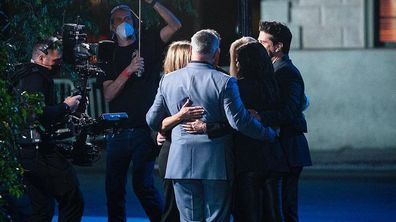 David Schwimmer shares photos from Friends: The Reunion.