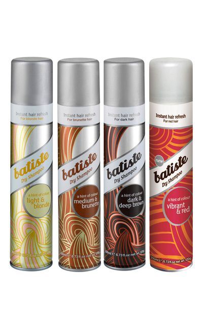 "<p><a href=""http://www.batistehair.com.au/"" target=""_blank"">Coloured Dry Shampoo, available in: Dark &amp; Deep Brown, Vibrant &amp; Red, Light &amp; Blonde and Medium Brunette, $12.95, Batiste&nbsp;</a></p>"