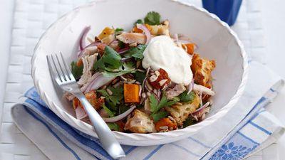 "Recipe:<a href=""http://kitchen.nine.com.au/2016/05/16/17/56/chicken-and-pumpkin-salad"" target=""_top"" draggable=""false"">Chicken and pumpkin salad<br /> </a>"