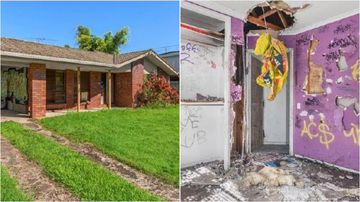 A house on Brisbane's southside is in such poor condition, potential buyers aren't allowed inside to view it.